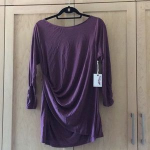 Maternity long sleeve shirt in mauve